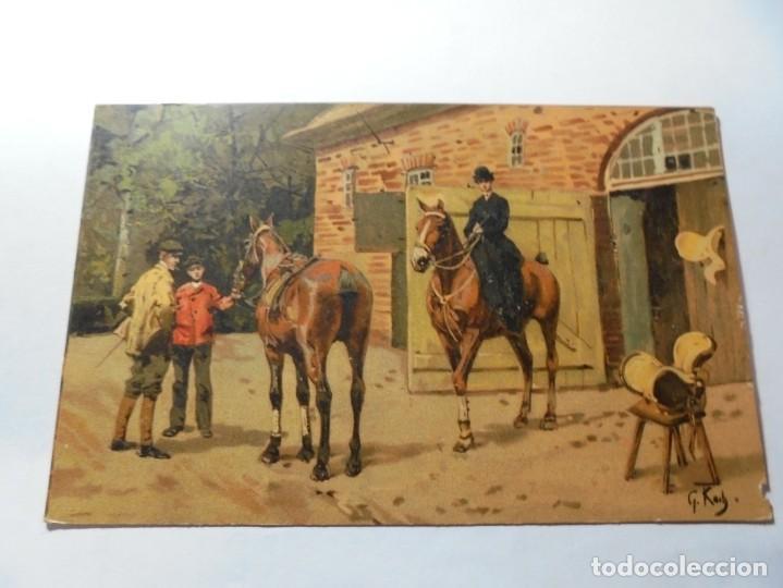Postales: magnificas 5 postales antiguas publicidad linimento alonso ojera para caballos - Foto 3 - 246320350