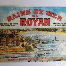 Postales: POSTAL CPM , PUBLICIDAD, BAINS DE MER DE ROYAN, VER FOTOS. Lote 250319550