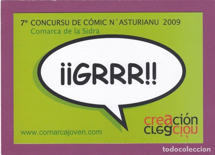 POSTAL 7º CONCURSU DE CÓMIC N'ASTURIANU 2009. COMARCA DE LA SIDRA (ASTURIAS) (Postales - Postales Temáticas - Publicitarias)