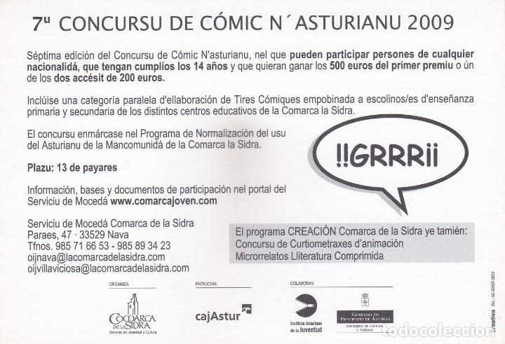 Postales: POSTAL 7º CONCURSU DE CÓMIC NASTURIANU 2009. COMARCA DE LA SIDRA (ASTURIAS) - Foto 2 - 253569560