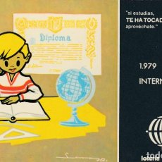 Postales: POSTAL - LOTERIA NACIONAL 1979 AÑO INTERNACIONAL DEL NIÑO -F.N.M.T. MADRID SERIE L Nº 2 -NO CIRCUL. Lote 253885345