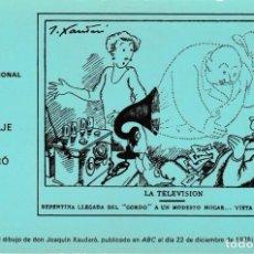 Postales: POSTAL - LOTERIA NACIONAL 1969 - CARTEL HOMENAJE A JOAQUIN XAUDARO DIBUJANTE F.N.M.T. MADRID - NUEVA. Lote 253897895