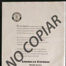 Postales: ANUNCIO DE AMERICAN EXPRESS. ANUNCIO EXTRAÍDO DE LIBRO CONMEMORATIVO. ESTADOS UNIDOS. AÑO 1950.. Lote 254165680