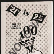 Postales: ANUNCIO DE ESTUDIOS RKO. ANUNCIO EXTRAÍDO DE LIBRO CONMEMORATIVO. USA. AÑO 1950.. Lote 254167290