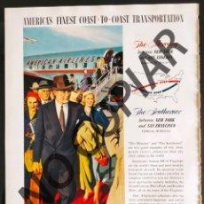 Postales: ANUNCIO DE LÍNEA AÉREA AMERICAN AIRLINES. ANUNCIO EXTRAÍDO DE LIBRO CONMEMORATIVO. USA. AÑO 1950.. Lote 254167780