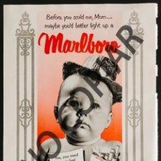 Postales: ANUNCIO DE CIGARRILLOS MARLBORO. ANUNCIO EXTRAÍDO DE LIBRO CONMEMORATIVO. ESTADOS UNIDOS. AÑO 1950.. Lote 254168710