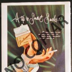Postales: ANUNCIO DE CIGARRILLOS PARLIAMENT. ANUNCIO EXTRAÍDO DE LIBRO CONMEMORATIVO. USA. AÑO 1950.. Lote 254169355