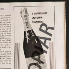 Postales: ANUNCIO DE CHAMPAGNE KORBEL BRUT. ANUNCIO EXTRAÍDO DE LIBRO CONMEMORATIVO. USA. AÑO 1950.. Lote 254170270