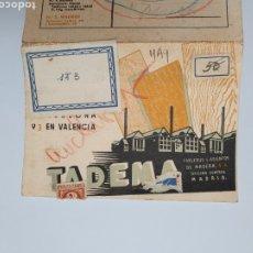 Postales: TADEMA. TABLEROS Y ASIENTOS DE MADERA. POSTAL PUBLICITARIA 1936.. Lote 254505985