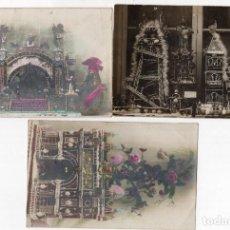 Postales: MONAS DE PASCUA DE CHOCOLATE. 3 POSTALES. Lote 255989630