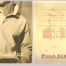 Postales: TARJETA PUBLICITARIA. POLO SUR. RIOJA 14 -16. SEVILLA. IMPRESA AMBAS CARAS.(C/A28). Lote 257508530