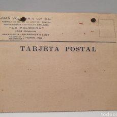 Postales: POSTAL COMERCIAL 1943. LA PALMARE. IRUN. HOJAS DE AFEITAR.. Lote 257544795