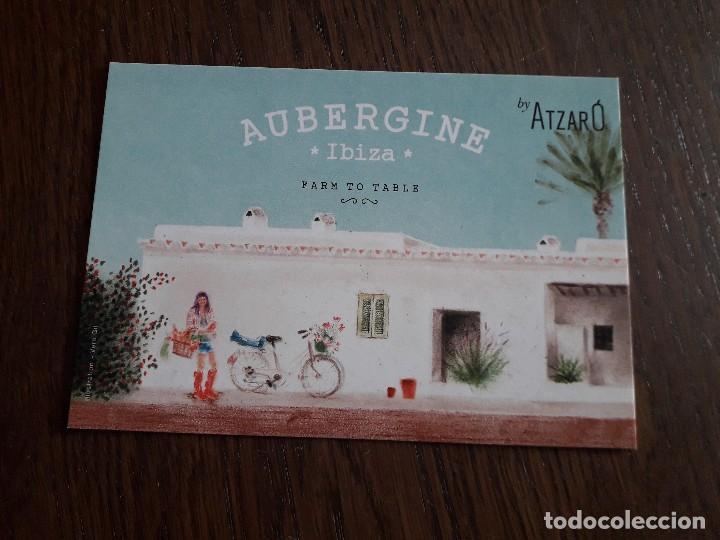 POSTAL DE PUBLICIDAD, MEDITERRANEAN & LOCAL FOOD AUBERGINE, IBIZA. (Postales - Postales Temáticas - Publicitarias)