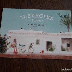 Postales: POSTAL DE PUBLICIDAD, MEDITERRANEAN & LOCAL FOOD AUBERGINE, IBIZA.. Lote 258207200