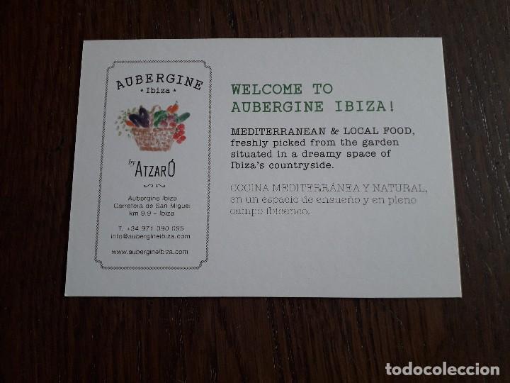 Postales: postal de publicidad, Mediterranean & local food Aubergine, Ibiza. - Foto 2 - 258207200