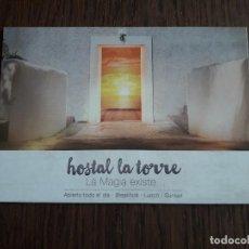 Postales: POSTAL DE PUBLICIDAD, POSTALFREE, HOSTAL LA TORRE, CAP NEGRET, SAN ANTONIO. IBIZA.. Lote 258207535