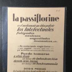 Postales: LA PASSIFLORINE , LABORATORIO , PARIS , FARMACIA , EL PENSADOR DE MIGUEL ANGEL.. Lote 259875485