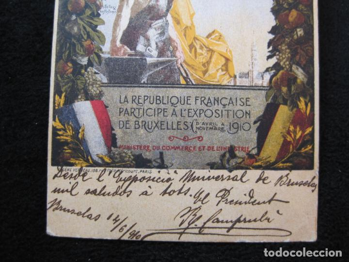 Postales: EXPOSITION UNIVERSELLE E INTERNATIONALE DE BRUXELLES 1910-PUBLICIDAD-POSTAL ANTIGUA-(80.266) - Foto 3 - 261265245
