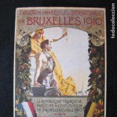 Postales: EXPOSITION UNIVERSELLE E INTERNATIONALE DE BRUXELLES 1910-PUBLICIDAD-POSTAL ANTIGUA-(80.266). Lote 261265245