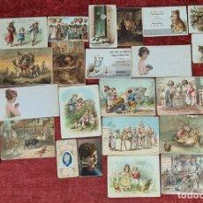 Postales: COLECCION DE 24 POSTALES PUBLICITARIAS. LITOGRAFIAS. ESPAÑA. SIGLO XIX-XX. Lote 262179120