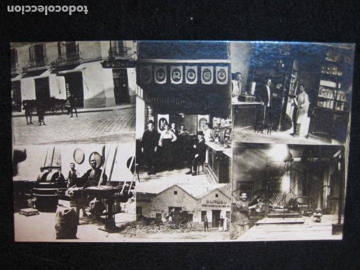 GURUGU-VARIAS VISTAS-TIENDA Y FABRICA-FOTOGRAFICA-PUBLICIDAD-POSTAL ANTIGUA-(80.427) (Postales - Postales Temáticas - Publicitarias)