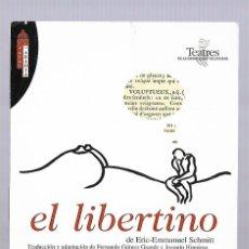 Postales: 1R- PUBLICIDAD - EL LIBERTINO - EL PLACER INTERLIGENTE 2.003. Lote 262375660