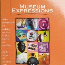 Postales: POSTAL INVITACIÓN FERIA EXHIBITION MUSEUM EXPRESSIONS PARIS FRANCIA 2002. Lote 263040110