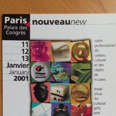 Postales: POSTAL INVITACIÓN FERIA EXHIBITION MUSEUM EXPRESSIONS PARIS FRANCIA 2001. Lote 263040175