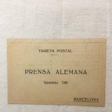 Postales: TARJETA POSTAL PUBLICITARIA. PRENSA ALEMANA / REVISTAS. BARCELONA. C.1920. Lote 263053840