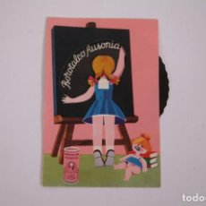 Postales: POSTAL PUBLICITARIA RUEDA MÓVIL - BOROTALCO AUSONIA - 10,5 X 14,5CM - PUBLICIDAD. Lote 263293200