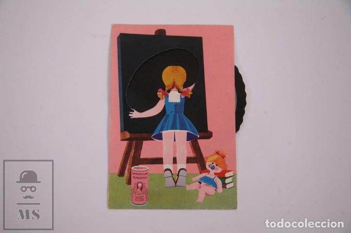Postales: Postal Publicitaria Rueda Móvil - Borotalco Ausonia - 10,5 x 14,5cm - Publicidad - Foto 3 - 263293200
