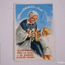 Postales: POSTAL PUBLICITARIA CAJA DE PENSIONES PARA LA VEJEZ - CATALUÑA Y BALEARES - 9,2 X 13,5CM - MANÉN. Lote 263298815