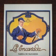 Postales: POSTAL PUBLICITARIA AM1758, LA ENCARTADA, TEJIDOS, VALMASEDA, BILBAO.. Lote 263470310