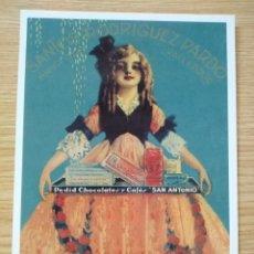 Postales: POSTAL PUBLICITARIA AM825, CHOCOLATES Y CAFÉS SAN ANTONIO.. Lote 263495585