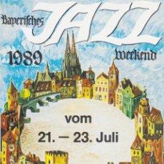Cartoline: POSTAL PUBLICITARIA 8È FESTIVAL DE JAZZ DE BAVIERA DE 1989. Lote 263567530