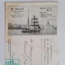 Postales: ARMADOR Y NAVIERO M.BEAUS - PALMA DE MALLORCA - - P51875. Lote 265180034