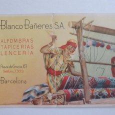 Postales: ALFOMBRAS TAPICERÍAS LENCERÍA H. BLANCO BAÑERES S.A. - 15,7 X 10 CM - P51935. Lote 265370499