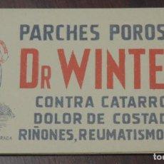 Postales: CUADERNILLO DE PARCHES POROSOS DR. WINTER, FARMACIA, MIDE 11 X 6,5 CMS.. Lote 267895169