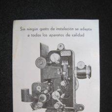 Postales: CINE-CAMARA ERKO CINAES T.B.V.-PUBLICIDAD-POSTAL ANTIGUA-(81.488). Lote 268163239