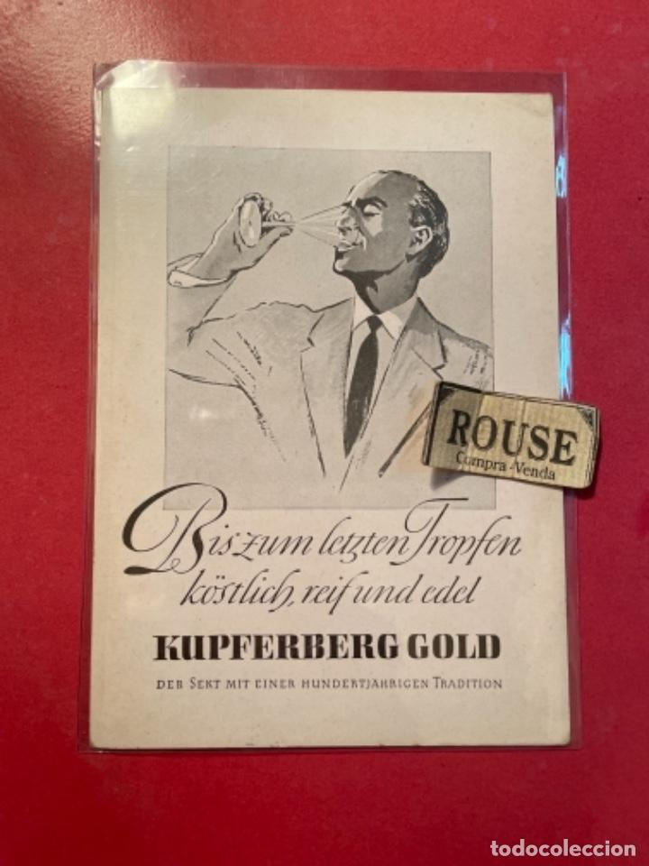 VINOS - POSTAL BISZUM LETZTEN FROPFEN KOSTLICH REIF UND EDEL KUPFERBERG GOLD 15X10,5CM. (Postales - Postales Temáticas - Publicitarias)