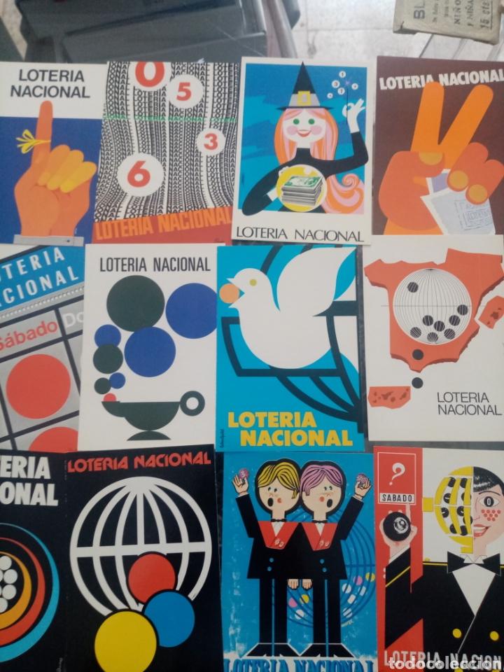 12POSTALES DE CARTELES DE LOTERIA 1977 (Postales - Postales Temáticas - Publicitarias)