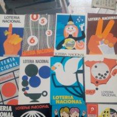 Postales: 12POSTALES DE CARTELES DE LOTERIA 1977. Lote 268740644