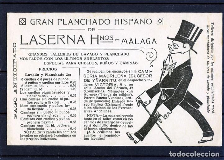 TARJETA POSTAL DE MALAGA-PUBLICITARIA=LA SERNA HERMANOS-MALAGA=NUEVA SIN CIRCULAR . (Postales - Postales Temáticas - Publicitarias)