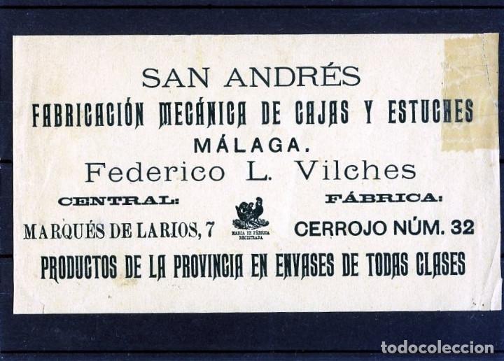 Postales: TARJETA PUBLICITARIA FIRMA COMERCIAL DE MALAGA=NUEVA-VER FOTO ADICIONAL DEL REVERSO . - Foto 2 - 268799749