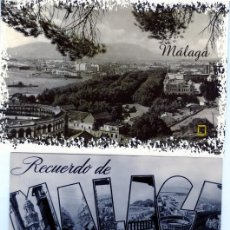Postales: TRES POSTALES PUBLICITARIAS=RECUERDO DE MALAGA=NUEVAS SIN CIRCULAR .. Lote 268800349