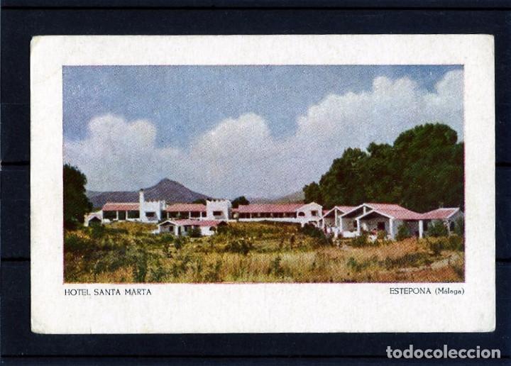 TARJETA POSTAL DE ESTEPONA(MALAGA)=HOTEL SANTA MARTA=NUEVA SIN CIRCULAR-VER FOTO ADICIONAL . (Postales - Postales Temáticas - Publicitarias)