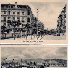 Postales: TRES POSTALES DE MALAGA CON PUBLICIDAD DE LIBRERIA CERVANTES DE MALAGA-VER FOTO ADICIONAL REVERSO .. Lote 268802134