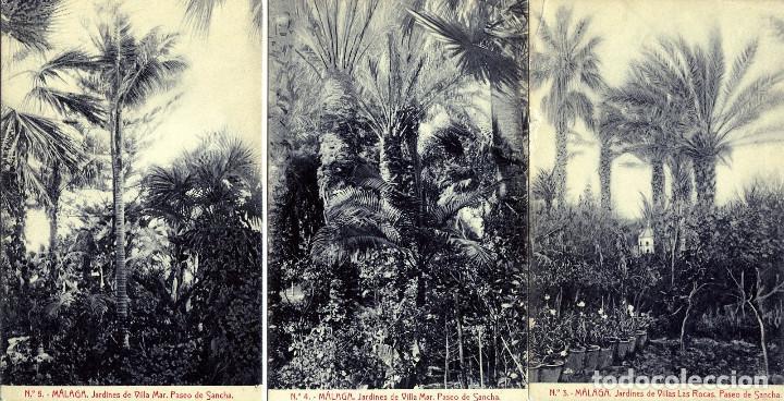 CINCO POSTALES DE MALAGA-MISMA SERIE NUMERADAS-NUEVAS SIN CIRCUALAR-VER FOTO ADICIONAL DE REVERSOS. (Postales - Postales Temáticas - Publicitarias)