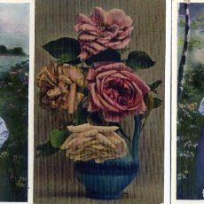 Postales: TRES POSTALES PUBLICITARIAS-FIRMA COMERCIAL DE MALAGA=FRANCISCO BAQUERO=VER FOTO ADICIONAL REVERSOS.. Lote 268816464