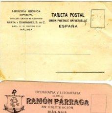 Postales: DOS TARJETAS PUBLICITARIAS DE FIRMAS COMERCIALES DE MALAGA-VER FOTO ADICIONAL DE LOS REVERSOS .. Lote 269178168